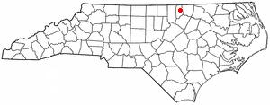 Middleburg, North Carolina - Image: NC Map doton Middleburg