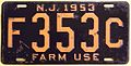 NEW JERSEY 1953 -FARM USE LICENSE PLATE - Flickr - woody1778a.jpg