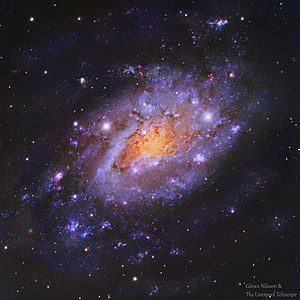 NGC 2403 - RGB image of the galaxy NGC 2403 from the Liverpool Telescope