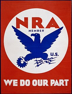 National Recovery Administration New Deal agency established by President Franklin D. Roosevelt in 1933