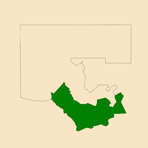 Electoral division of Araluen - Location of Araluen in the Alice Springs area