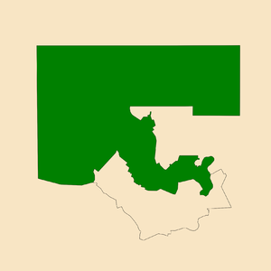 Electoral division of Braitling - Location of Braitling in the Alice Springs area