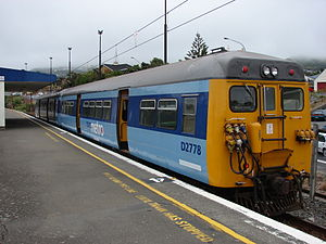 New Zealand DM class electric multiple unit - D2778 awaiting departure from Johnsonville, the terminus of the Johnsonville Line, 17 December 2007.