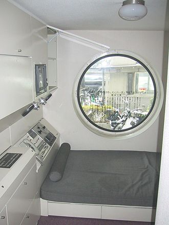 Metabolism (architecture) - Interior of one of the capsules in the Nakagin Capsule Tower