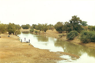 Water supply and sanitation in Burkina Faso - The Nakambe River in Burkina Faso in February 2009 during the dry season