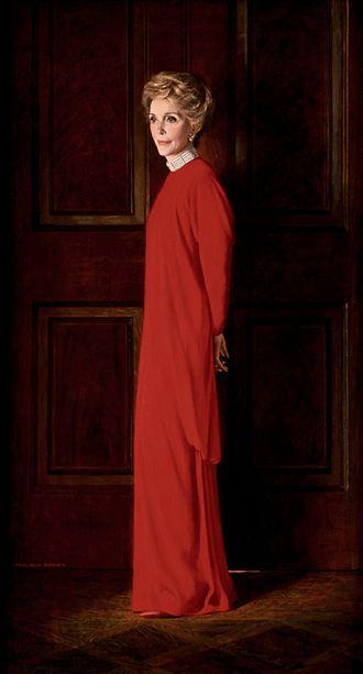 Aaron Shikler - Image: Nancy Reagan official White House portrait