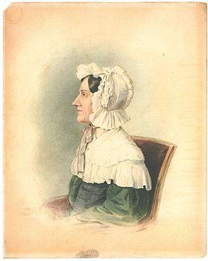 Nannette Streicher - Nanette Streicher – ink drawing by Ludwig Krones, 1836