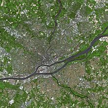 Satellite image of Nantes