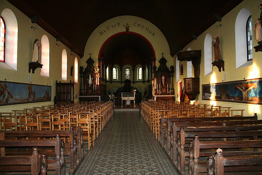 Naomé   (Belgium), the St. Sebastien church (1904-1906).