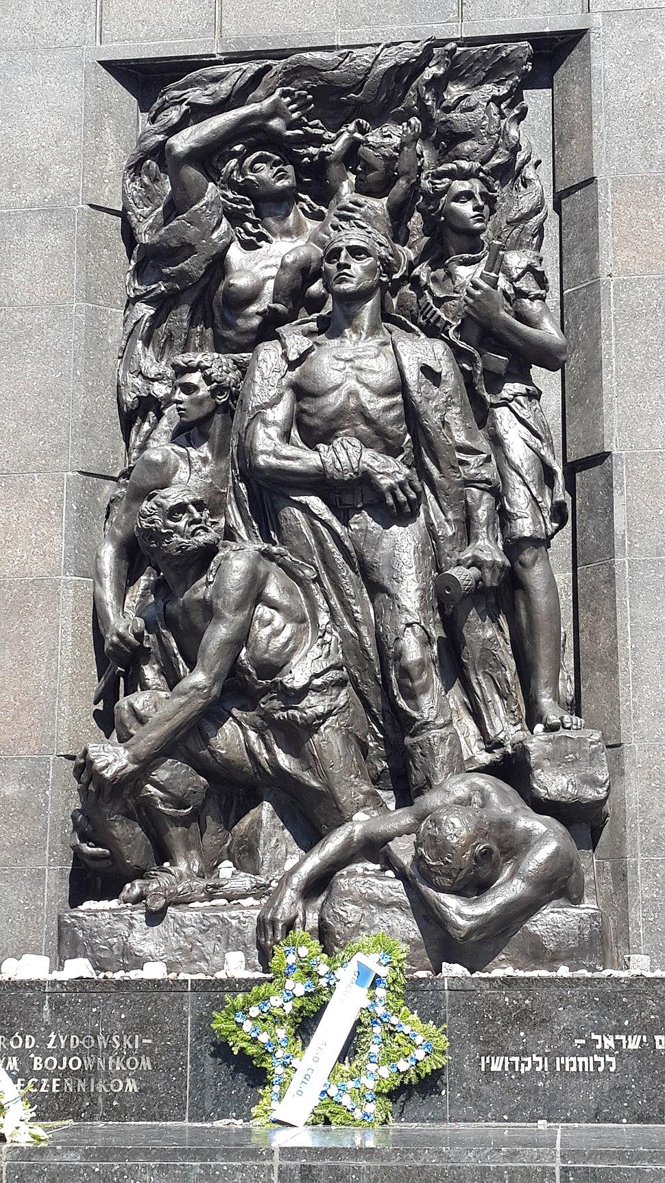 Natan Rapoport-Monument of Warsaw Ghetto Uprising in Warsaw-Warsaw