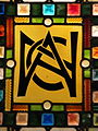 National Arts Club logo in stained glass.JPG