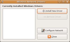 install ndiswrapper: