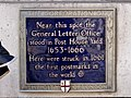 Near this spot the General Letter Office stood in Post House Yard.jpg