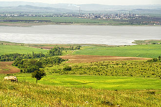 Lake Burgas - The Neftochim refinery seen from the other shore of the lake