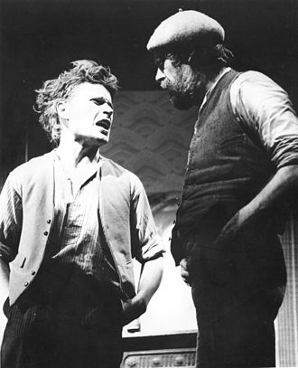 Neil Oram - Neil Oram, performing in The Warp's lead role Phil Masters, along with actor Mitch Davies in the role of Marty Mission, at the ICA, London, January 1979. Photograph by Evelyn Honig.