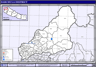 Darchula District - Map of the VDC/s in Darchula District