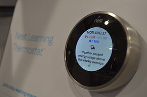 Nest Labs - Nest Learning Thermostat showing weather's impact on energy usage