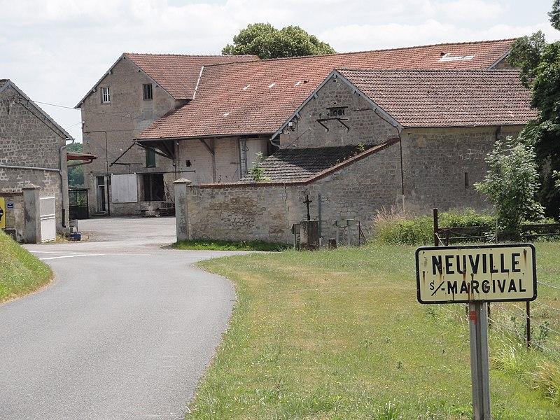 Neuville-sur-Margival (Aisne) city limit sign