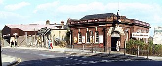 Kensal Green station - The 1980 station almost complete before closure of the original.