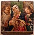 Nicolò rondinelli (attr.), madonna in trono tra s. benedetto e il profeta daniele, xv-xvi secolo.jpg