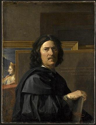 Nicolas Poussin - Self portrait by Nicolas Poussin, 1650