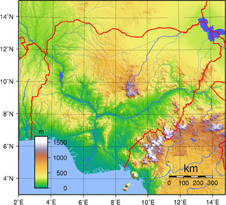 Geography of Nigeria - Topography of Nigeria