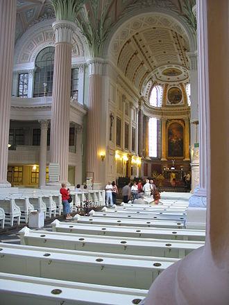 St. Nicholas Church, Leipzig - Interior, facing the altar