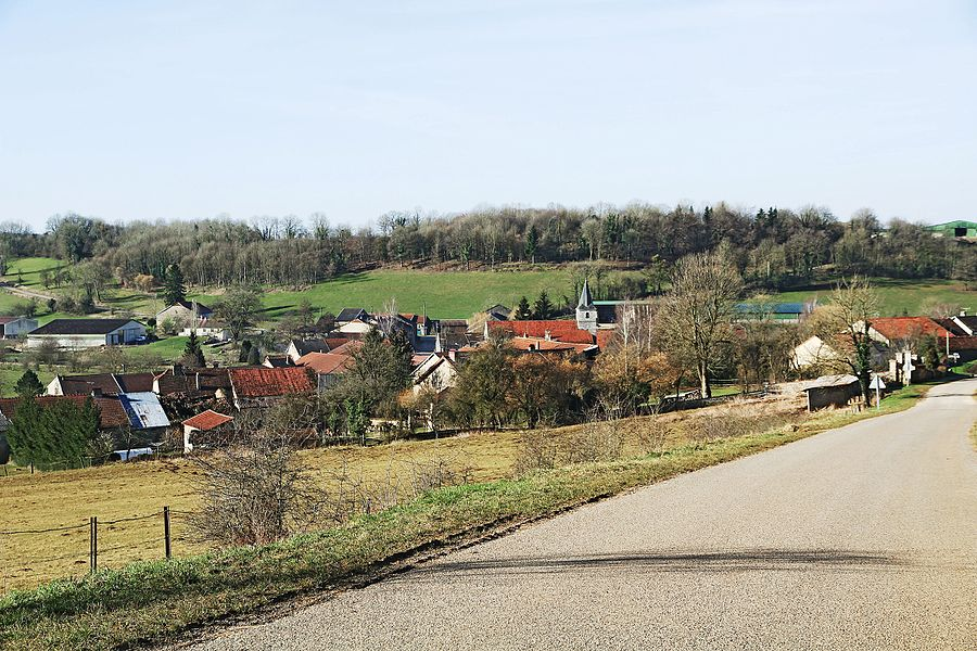 Ninville seen since the road to Buxières