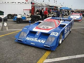 Nissan GTP ZX-Turbo - A Nissan GTP ZX-Turbo being rolled out for Historic Racing.