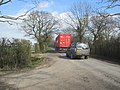 No chance of overtaking on a country lane (geograph 6101803).jpg