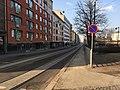 No sidewalk, just a bikeway (42875017450).jpg