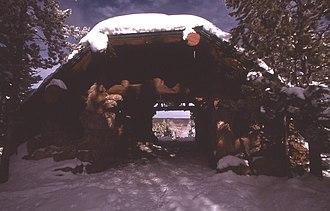 Norris Geyser Basin Museum - Norris Geyser Basin Museum in winter.