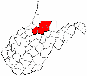 North Central West Virginia - Map of North Central WV