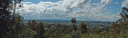 Photo panoramique de Wagga Wagga, depuis Willians Hill.