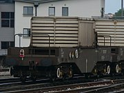 High Level Waste flasks are transported by train in the United Kingdom. Each flask is constructed of 3ft thick solid steel and weighs in excess of 50 tons