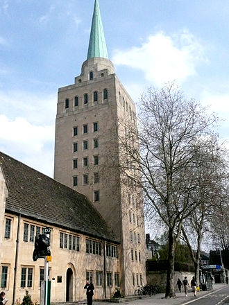 New Road, Oxford - The tower of Nuffield College on New Road.