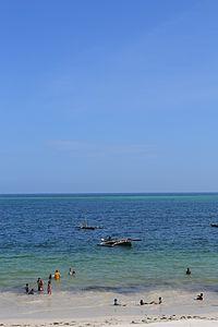 Nyali Beach from the Reef Hotel during high tide in Mombasa, Kenya 21.jpg
