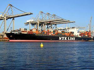 Nyk Vesta IMO 9312808 p1, at the Amazone harbour, Port of Rotterdam, Holland 15-Dec-2007.jpg