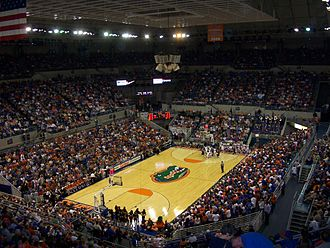 "O'Connell Center - The interior of the O'Connell Center, the University of Florida's multi-purpose indoor sports arena.  The ""O'Dome"" is located on the university's Gainesville, Florida campus."