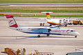 OE-LGG Bombardier Dash 8Q-402 Austrian arrows(Tyrolean Aws) VIE 27MAY04 (11511310846).jpg