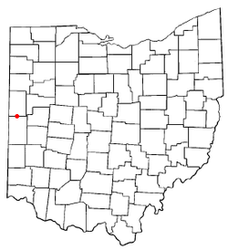 Location of Burkettsville, Ohio