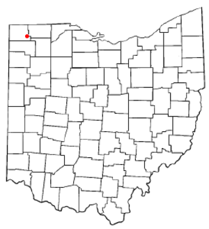 Stryker, Ohio - Image: OH Map doton Stryker