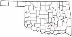 Location of Fitzhugh, Oklahoma