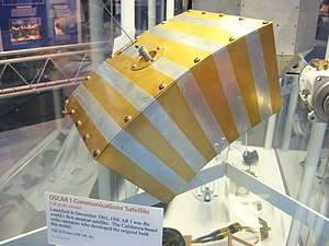 Amateur radio satellite - First amateur radio satellite OSCAR 1, launched in 1961