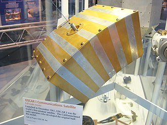 Amateur radio satellite - First amateur radio satellite OSCAR 1, launched in 1961