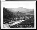 OVERVIEW OF GRAVEL PLANT, c. 1927 - Coolidge Dam, Gila River, Peridot, Gila County, AZ HAER ARIZ,11-PERI.V,1-16.tif
