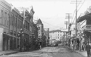 Laurel, Mississippi - Oak Street, circa 1900