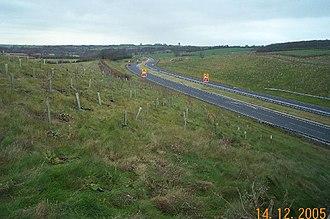 A6 road (England) - Clapham bypass near Oakley