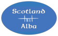 "Ogham letters for ""Alba"" on bumper sticker - ""Alba"" in Ogham-Schrift auf Autoaufkleber.png"
