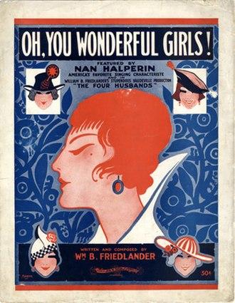 William B. Friedlander - Sheet music for Oh You Wonderful Girls (1917)